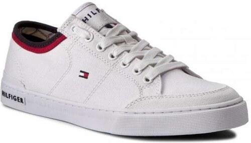Νέα Tommy Hilfiger Harrington 5D2 Λευκά Ανδρικά Sneakers FM0FM00543 White  100 Tommy Hilfiger FM0FM00543 White 100 3dc1859eb85