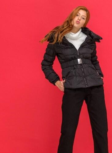The Fashion Project Μεσάτο καπιτονέ μπουφάν με ζώνη - Μαύρο - 06555002006 4600cc9638e