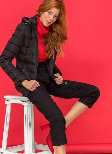 -25% The Fashion Project Λεπτό καπιτονέ μπουφάν με λάστιχο στο τελείωμα -  Μαύρο - 06558002004 c2631114907
