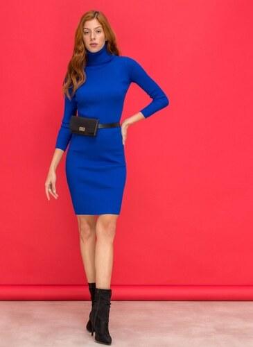 0fa2fd840bec The Fashion Project Ριπ εφαρμοστό φόρεμα με ζιβάγκο - Ίντιγκο - 06085060009