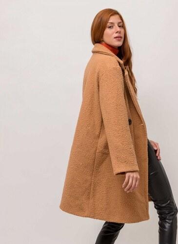836d8458c9be The Fashion Project Παλτό από συνθετικό μαλλί προβάτου - Κάμελ - 05625008001