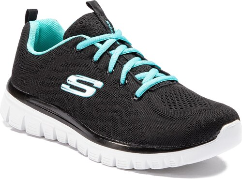 e61daa366a0 Παπούτσια SKECHERS - Get Connected 12615/BKTQ Black/Turquoise - Glami.gr
