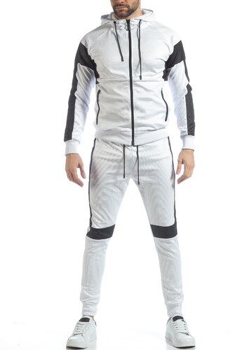 adf51ae6f05 FM Ανδρικό αθλητικό σετ σε λευκό χρώμα - Glami.gr