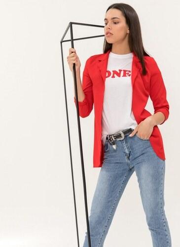 938971060950 -30% The Fashion Project Λεπτό σακάκι σε ίσια γραμμή - Κόκκινο - 06568014005