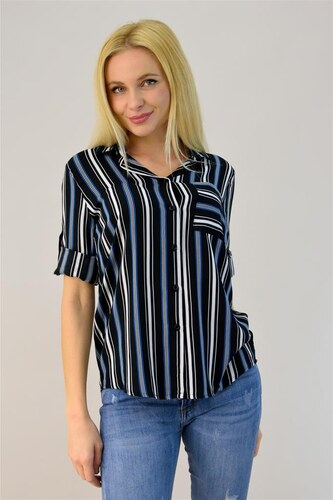 44fce4de9a9a Potre Γυναικείο πουκάμισο ριγέ με τσέπη - Glami.gr