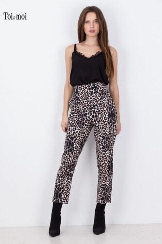0ab682884244 TOI MOI Γυναικείο παντελόνι animal print carrot ΜΑΥΡΟ - Glami.gr