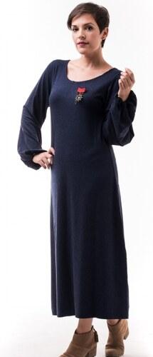 3d873297b1aa Petit Boutik Μπλε Μίντι Φόρεμα με Φουσκωτά Μανίκια - Glami.gr