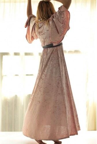 33b964404533 Lovender Ροζ Μάξι Φόρεμα Κρουαζέ Βελούδο - Glami.gr