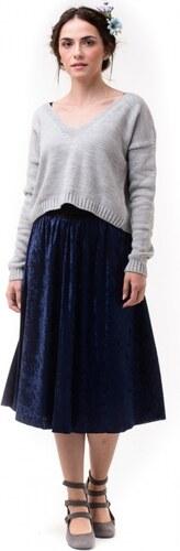 Lovender Μπλε Μίντι Βελούδινη Φούστα με Λάστιχο - Glami.gr 96e0d1e37a9