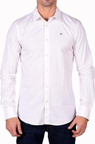 011b6d1a7f71 Ανδρικό βαμβακερό λευκό πουκάμισο Tommy Hilfiger DM0DM04405-100 ΛΕΥΚΟ