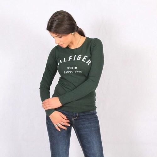 7a56779c019c Γυναικεία βαμβακερή πράσινο μπλούζα Tommy Hilfiger (DW0DW02667) ΠΡΑΣΙΝΟ