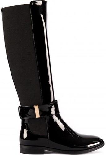 9d25db776c7 MIGATO Μαύρη μπότα ιππασίας με αγκράφα - Glami.gr