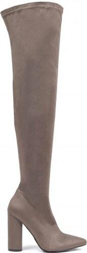 ef087fca951 MIGATO Γκρι σουέντ μπότα πάνω από το γόνατο - Glami.gr