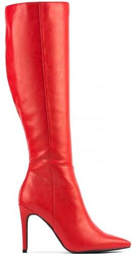 b39dd55ede1 MIGATO Κόκκινη ματ μπότα γόνατο - Glami.gr