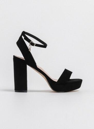 8e22d8313bd Xti Footwear Suede πέδιλα με χοντρό τακούνι 35012 - Μαύρο - 06803002002