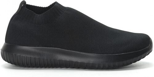933cf54d00f Kiss GoGo Ανδρικά χαμηλά μαύρα αθλητικά παπούτσια κάλτσα All black ...