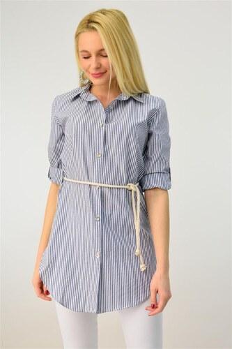 c68963ed1fd3 Potre Γυναικείο πουκάμισο ριγέ με ζώνη - Glami.gr