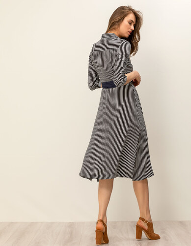 18acfb29255e Issue Fashion Midi σεμιζιέ φόρεμα με ρίγες - Glami.gr