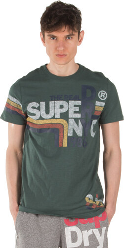 6c50e3f644a3 SUPERDRY D1 RETRO ENTRY TEE M10150NT-A7J Πράσινο - Glami.gr
