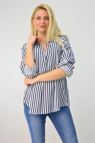 5bbeaeb988c3 Potre Γυναικεία πουκαμίσα ριγέ - Glami.gr
