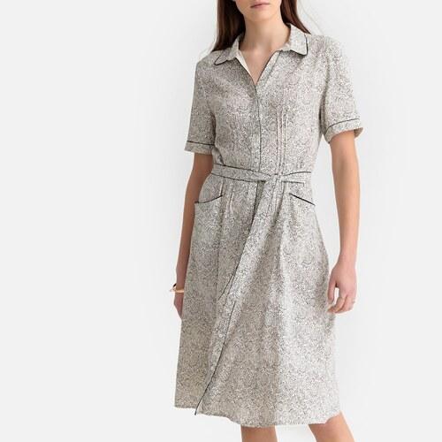 40d78d8fb4b SEE U SOON Εμπριμέ κοντομάνικο φόρεμα - Glami.gr