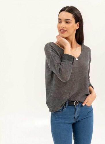 1499aeb9531b -30% The Fashion Project Ελαφριά μπλούζα με αραιή πλέξη - Ανθρακί -  07008039001