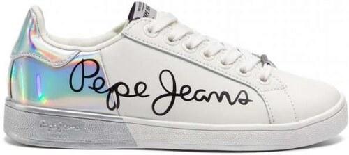 391b89e796a Pepe Jeans Brompton Mania PLS30864 White 800 Λευκά Γυναικεία Sneakers Pepe  jeans PLS30864 White 800