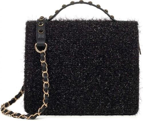 90e2e70660 MIGATO Μαύρη τσάντα ώμου με γυαλιστερό καπάκι - Glami.gr