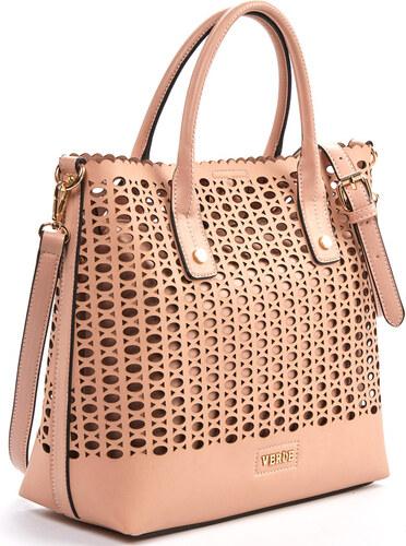 c753dde326 Γυναικεία τσάντα χεριού-ώμου Verde 16-0005179 σε ροζ χρώμα έως 6 άτοκες  δόσεις