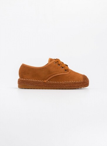 f32248dcd3 -40% The Fashion Project Δετά suede παπούτσια με διάτρητο σχέδιο - Ταμπά -  07152007002