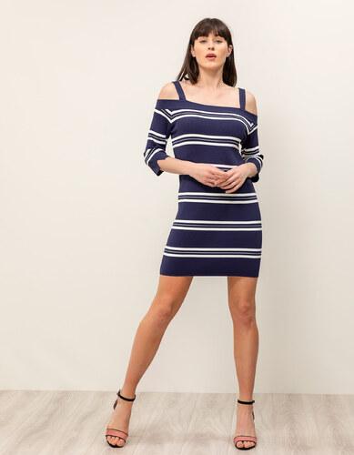 d11c0458f59b Issue Fashion Πλεκτό φόρεμα με ρίγες - Glami.gr