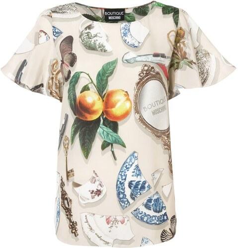 4a1fa5fa3f Boutique Moschino graphic print blouse - Neutrals - Glami.gr