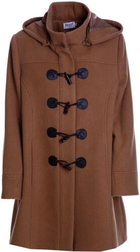 ddff38db03c BRAVO Γυναικείο μακρύ βελούρ κάμελ παλτό, πέτο γιακά - Glami.gr