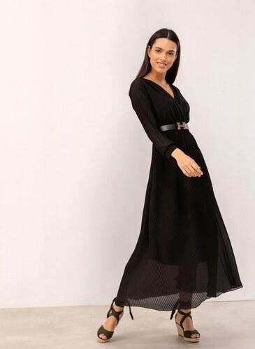 a7f7b74132b4 The Fashion Project Maxi πλισέ κρουαζέ φόρεμα - Μαύρο - 07229002001 ...