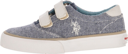 01279bb595b Παιδικά Παπούτσια Casual Top.Boston Άσπρο Πάνινο U.S. Polo Assn ...