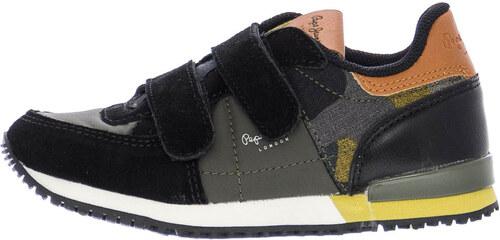 801e9dda7ba Παιδικά Παπούτσια Casual PBS30375 Μαύρο Δέρμα Καστόρι Pepe Jeans ...