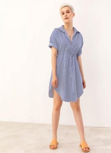 79d5bfd7ebc1 The Fashion Project Φόρεμα πουκάμισο σεμιζιέ με ρίγες - Μπλε - 07232037001
