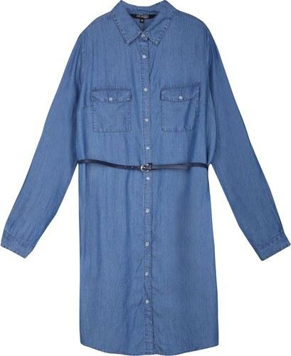 d681117fb311 TOP SECRET μπλε φορεμα με ζωνη soft denim - Glami.gr