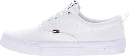 f7340ecca6a Γυναικεία Παπούτσια Casual Classic.Jeans Άσπρο Πάνινο Tommy Hilfiger ...