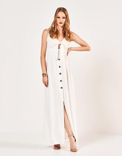 f6225c3eb294 Lynne Φόρεμα με κουμπιά και δέσιμο - Glami.gr