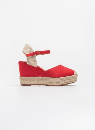 4f75a354ce3 The Fashion Project Suede espadrilles με τακούνι πλατφόρμα - Κόκκινο -  07410014002