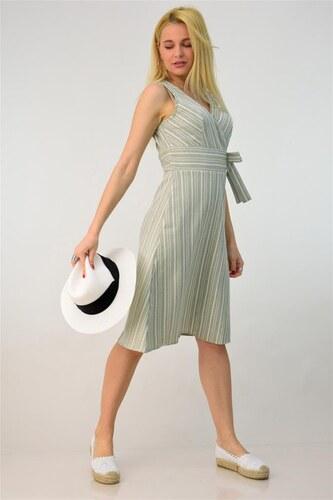 1b90d0d9924f Potre Κρουαζέ φόρεμα με όψη λινού - Glami.gr