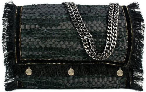72886de8cf MIGATO Μαύρη χειροποίητη δερμάτινη τσάντα - Glami.gr