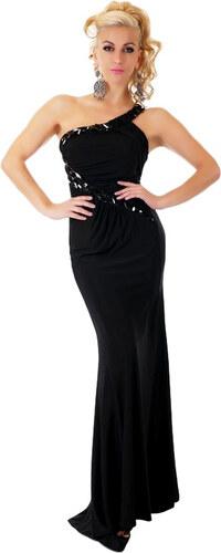 845ca50fdb4d SD Fashion 30948 SD Μάξι φόρεμα με σκίσιμο και έναν ώμο - μαύρο ...