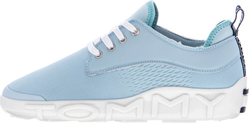 d2ccf7a8e83 Γυναικεία Παπούτσια Casual Knit.Sneaker Μπλέ Ανοιχτό Πάνινο Tommy ...