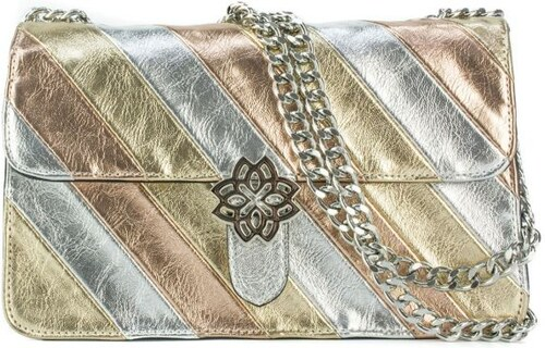 2ca58ea8f0 MIGATO Μεταλλική τσάντα με ρίγες - Glami.gr