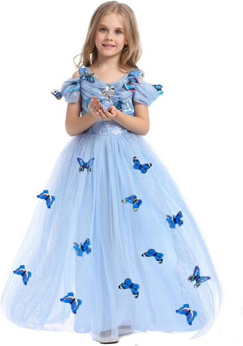 4c19f8ae3b4 Πριγκιπικό Φορεματάκι Μπλε Παιδικό - Meng Baby - Glami.gr