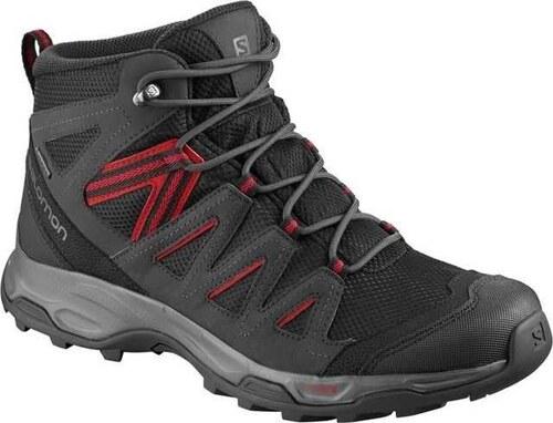 8ac97df7895 Αδιάβροχα ορειβατικά μποτάκια ανδρικά Salomon Hillrock Mid GTX Gore-Tex  Black 406462 Μαύρο Salomon