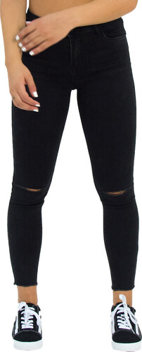 Huxley & Grace Γυναικείο μαύρο τζιν παντελόνι σωλήνας