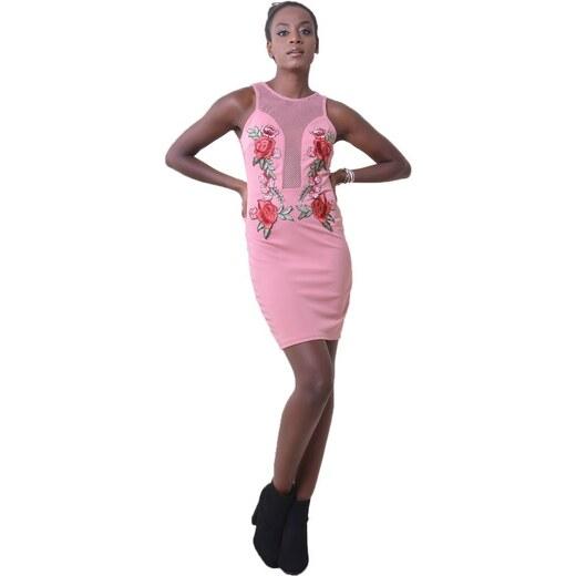 78416efdb053 DeCoro F2410 Φόρεμα με Κεντητό Σχέδιο   Δικτυωτή Πλάτη - ΡΟΖ - 10 - Glami.gr